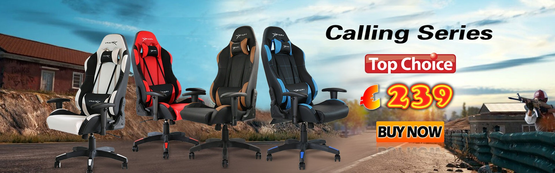 EWIN Europe Calling Series Gaming Chairs!